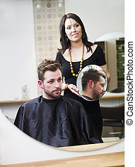 Hair Salon situation - Man at the Hair salon situation