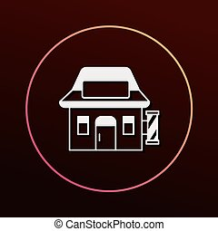 hair salon store icon