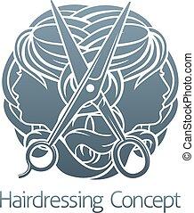Hair Salon Stylist Hairdresser Faces - Hair salon stylist...