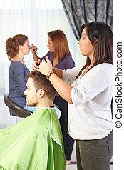 Hair salon. Workflow.