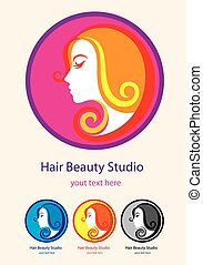 Hair saloon logo
