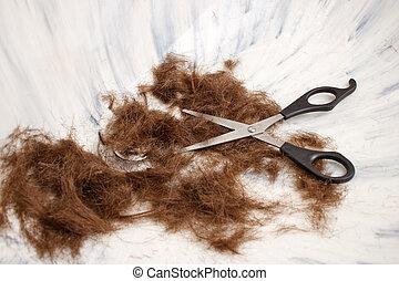 Hair Scissors In Sink