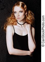 hair spray advertising - Fashion portrait. Beautiful blonde ...