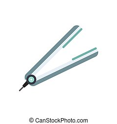 Hair straightener flat icon