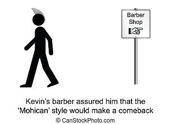 Hair Style - Kevin felt good setting the trend cartoon ...