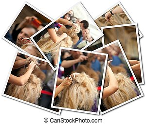 Hair Stylist, photo collage