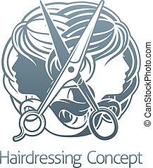 Hair Stylist Salon Hairdresser Concept