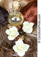 hair texture - beautiful shiny healthy style hair