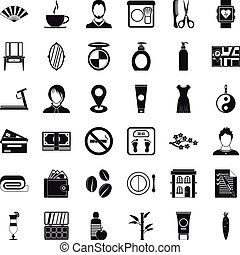 Hair tool icons set, simple style - Hair tool icons set....