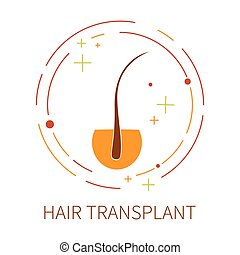 Hair transplant label - Hair transplant logo template made...