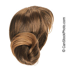 Hair wig isolated - Open wave hair wig isolated over the...