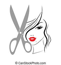 Hair Woman Shows Person Adult And Hairdo - Hair Haircut ...