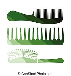 Hairbrush icon. Flat color design. Vector illustration.