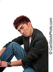 Haircut - Asian man with beautiful haircut style