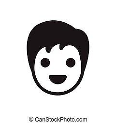 haircut glyph flat icon