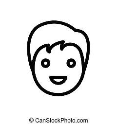 haircut thin line icon