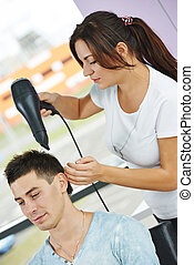 hairdresser at work
