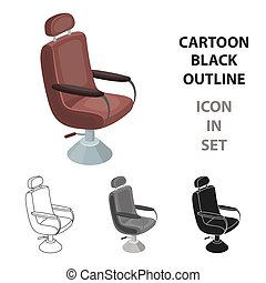 Hairdresser. Barbershop single icon in cartoon style vector symbol stock illustration web.