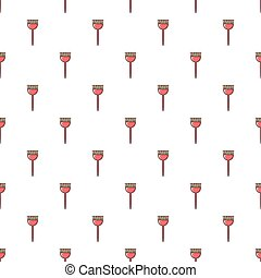 Hairdresser brush pattern seamless