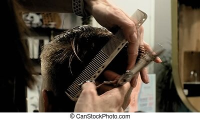 hairdresser, children's and men's haircuts - woman...