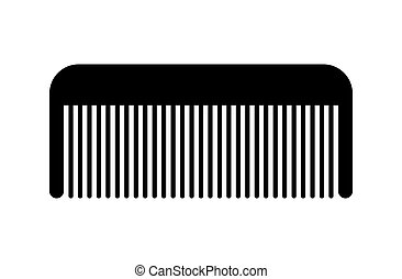 hairdresser comb. Black isolated silhouette on a white background. Vector icon