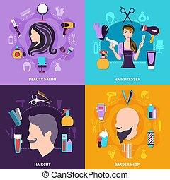 Hairdresser Concept Set