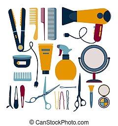 Hairdresser elements set