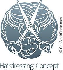 Hairdresser Hair Salon Stylist Concept - An abstract...