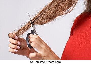 hairdresser, haircut, hair, scissors