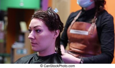 Hairdresser Mows Hair Tips HD