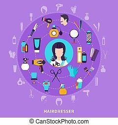 Hairdresser Round Composition
