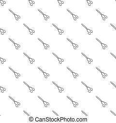 Hairdresser scisors pattern seamless repeat in cartoon style...