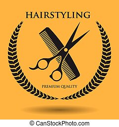 hairdressing icon design, vector illustration eps10 graphic