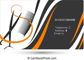 Business card beauty salon and hairdresser business card eps hairdressing salon business card hairdresser business card concept vector reheart Choice Image