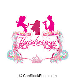 hairdressing salon icon