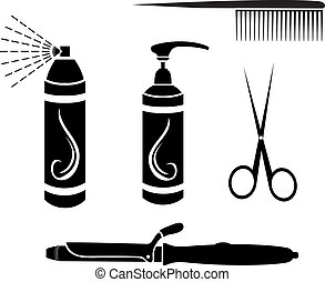 Hairdressing set stencil