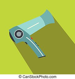 Hairdryer flat icon with shadow