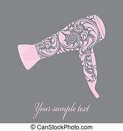 Hairdryer made from leaf pattern.