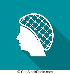 Hairnets must be worn flat icon - Vector hairnets must be...