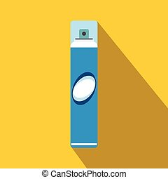 Hairspray flat icon with shadow