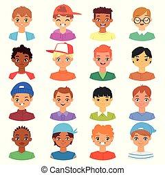 hairstyle , θέτω , τονίζομαι , αναπαριστώ , του προσώπου , γδέρνω , πορτραίτο , manlike, χαρακτήρας , απομονωμένος , διάφορος , man-child, άσπρο , εικόνα , φόντο , γελοιογραφία , αγόρι , μικρόκοσμος , ζεσεεδ , πρόσωπο , μικροβιοφορέας , άντρας , αρσενικό