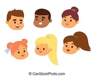 hairstyle , θέτω , τονίζομαι , αναπαριστώ , χαρακτήρας , του προσώπου , γδέρνω , πορτραίτο , άπειρος δεσποινάριο , απομονωμένος , διάφορος , άσπρο , εικόνα , αγόρι , φόντο , γελοιογραφία , μικρόκοσμος , ζεσεεδ , πρόσωπο , μικροβιοφορέας , ή