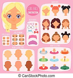 hairstyle , θέτω , φόντο , δημιουργία , κεφάλι , κοριτσίστικος , χείλια , κορίτσι , παιδιά , χαρακτήρας , απομονωμένος , girlie , μάτια , στοιχεία , εικόνα , δομή , του προσώπου , μικρόκοσμος , ζεσεεδ , μικροβιοφορέας , avatar, κατασκευαστής , ή