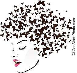hairstyle , με , πεταλούδες