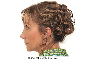 Hairstyle - Beautiful hairstyle for a party or wedding for...