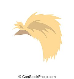 Hairstyle Flat Icon. Isolated on white background. Vector Illustration.