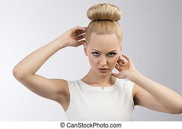 hairstyle, køn pige, lys