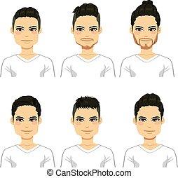 hairstyle, mannen, hipster