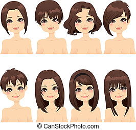 hairstyle, mode, verzameling