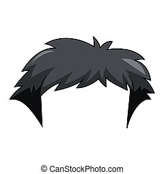 Hairstyle on a white background. Vector illustration. EPS 10.